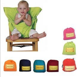 Wholesale portable feeding chair - Baby Sack Seats Portable High Chair Shoulder Strap Safety Seat Belt Feeding Seat Cover Harness Dining Chair Seat Safety Belt KKA4367