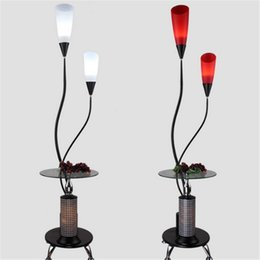 Wholesale Floor Reading Lamps - Modern Simple Floor Lamp Glass Table Standing Light Fixture Living Room Study Bedside Reading Piano Lamp E27 Lambader Stehlampe