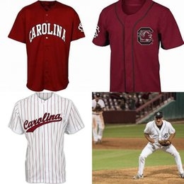 Wholesale College Yellow - Custom South Carolina Gamecocks College Baseball White 5 Merrifield Pearce Justin Smoak 19 Bradley Jr. Stitched Any Name Number Jersey S-4XL