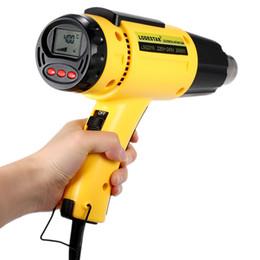 Wholesale Hot Air Gun Nozzle - 2000W AC220 LODESTAR Digital Electric Hot Air Gun Temperature-controlled Heat IC SMD Quality Welding Tools Adjustable + Nozzle