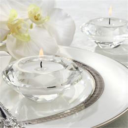 Diamante de chá on-line-Titular da Luz do Chá de Vidro de Cristal de Diamante Titular Castiçal Bridal Shower Party Favors Presente mesa de banquete decoração de Natal Decoração de Casa