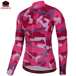 ee87c365eef Long Sleeve Cycling Jerseys Women Bike Jacket Cycle Shirts MTB Wear Top For  Spring