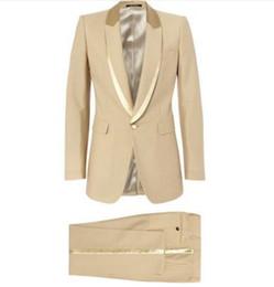 Wholesale tuxedo suits tailored - Custom Made to Measure Ivory Tuxedo Jacket Black Lapel ,Tailored Ivory Wedding Suits For Men, Bespoke Ivory White Tuxedo Jacket