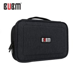 Wholesale Beverage Quality - Waterproof Double Layer Storage Bag Travel Digital Data Cable Organizer Carry Case Compact Storage Bag Travel Tools High Quality