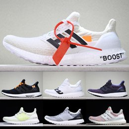 Wholesale running shoes run wide - Real Boost Ultra Boost 4.0 UltraBoost women mens running shoes Primeknit Oreo CNY Blue grey sport sneakers 36-45 [With Box] YS500