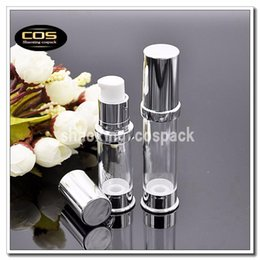 Wholesale online bottle - Online Sale ZA218-5ml airless pump bottles, wholesale 5ml plastic bottles with airless pump, 5ml eye concentract airless bottle