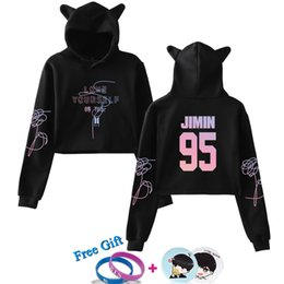 Inventive Women Cat Ear Hoodie Jumper Pullovers Cropped Short Top Grade Products According To Quality Women's Clothing