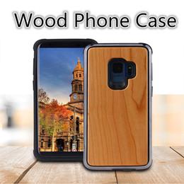 Capas de madeira esculpidas on-line-Prermium qualidade real madeira phone case para iphone x, iphone 8, 7 samsung s9 mais natureza esculpida em madeira de madeira de bambu fino design