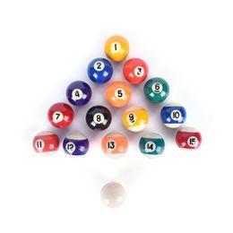 Wholesale Complete Table - New 38mm Practice pool balls full set resin Billiard Training ball Table Balls Cue ball for kids children