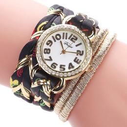 montre bracelet multicouche Promotion Myelo De Luxe Montres Femmes Multicouche Wrap Frabic Bracelets Montres À Quartz Pour Les Femmes Bohême Montre-Bracelet Bijoux Cadeaux