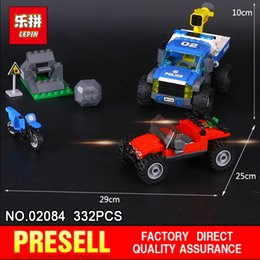 Wholesale road track - Lepin 02084 332Pcs City Series The Dirt Road Tracking Set 60172 Building Blocks Bricks Educational Toys Model Gifts for Children