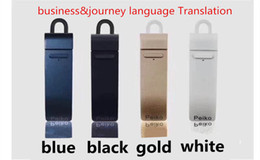 Wholesale Bluetooth Wireless Mobile Phone Headset - 16 kinds language Translation earbud Bluetooth 4.1 earphone Suppot Face to face real-time translation mobile phone with wireless headset