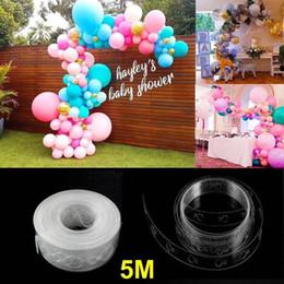 Ruban noué en Ligne-5 m ballon ballon guirlande décoration bande Kit ballon bande bande 16ft liant outil ballon colle colle facile ballons noeud