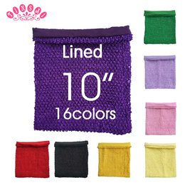 Wholesale Tutu Accessories Wholesale - TINSAI 10 Inches 22*25cm 16 Color TuTu Tube Elastic Wrapped Chest Knit Lined Crochet For Girl DIY Dress Accessories