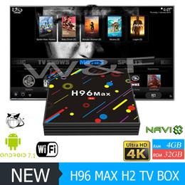 Wholesale Max Loads - 2018 Hot H96 MAX H2 Android 7.1 TV Box Quad Core RK3328 4GB 32GB KD Loaded 2.4G 5G WiFi Bluetooth USB 3.0 Media Player VS X96 MINI MXQ PRO