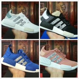 Wholesale Womens Sequin Shoes - 01 Wholesale New Womens NMD R1 Sequins Triples Runner Primeknit Grey Pink Black White NMDS Running Shoes Training Sneaker Nmd Shoes For mens