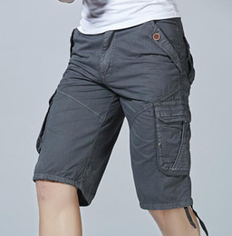 Wholesale yellow cargo shorts mens - Cotton shorts mens cargo Pants men sweatpants Man Joggers plus Size 42