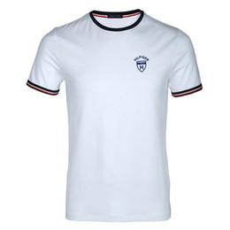 Wholesale dot shirt women - Free shipping High quality cotton new O-neck short sleeve t-shirt brand men T-shirts casual Flag for sport men polo T-shirt