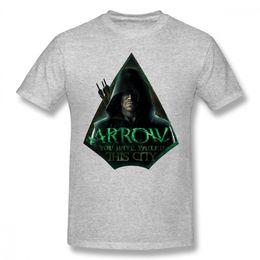 grünes pfeilhemd Rabatt Super Hero Green Arrow Oliver Königin T Shirt Einzigartiges Design für Mann Qualität Print T-Shirt