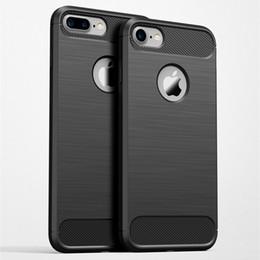 Caso do carbono do iphone 5s on-line-Luxo new fibra de carbono macio tpu desenho à prova de choque phone case para iphone x 8 7 plus 6 6 s plus 5 5S se casos