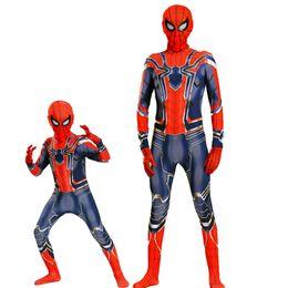 Vingadores: Guerra Infinito Iron Spiderman Cosplay Macacão Traje Zentai Homem Aranha De Ferro Bodysuit Macacões de Fornecedores de saco de corpo spandex preto