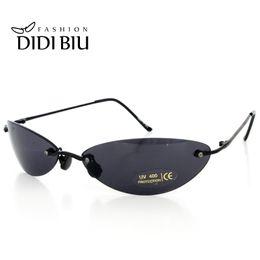 27c7b5838c6 Mini Rimless Sunglasses Men Classic Matrix Morpheus Oval Glasses Women  Steampunk Movie Eyewear Ultra-light Thin Frame U808