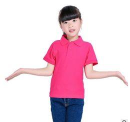 59c3418b0 2019 DIY Children Short Sleeved T Shirt Kindergarten Kids Boy Girl POLOS  Shirt Customize Print Pure Color Summer Shirt Top Tees From Greatamy, ...