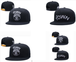 Wholesale Wholesale Sports Teams Baseball Caps - Wholesale The TOWN #30 CURRY Snapback hats All Teams baseball football Hats Hip Hop Snapbacks Women Men Cap Adjustable Sports hats