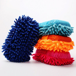 Wholesale microfiber chenille car wash glove - Ultrafine Fiber Chenille Anthozoan Car Wash Gloves Brushes Microfiber Car Motorcycle Washer Car Care Cleaning Brushes