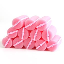 12 Unids Rosa Hebilla Esponja Suave Espuma de Pelo Rizador de Pelo Curlring Fácil Styling Salon Peluquería Peluquería Giro Herramientas desde fabricantes