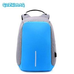 Wholesale Waterproof Rucksack Laptop - GDZHLBAG Anti-theft Backpack USB Charging 15.6 inch Laptop Travel Bag Multi function Rucksack Schoolbag Waterproof Backpack B163