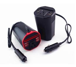 Canada Convertisseur automatique DC 12V à 110V AC avec convertisseur de courant alternatif de 150 W avec 1 prise secteur et 4 ports USB Offre