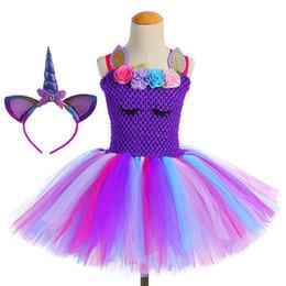 flower girl UnicornTutu Dress Princess Girls Birthday Party Dress Up  Children Lace Tulle Flower Girl Dress Kids Halloween Cosplay Costume 551b817baca3