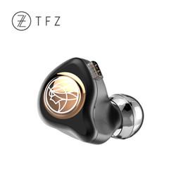 2019 pilote de câble TFZ KING II 2ème contrôleur de graphène dynamique HiFi In-ear Monitor IEM avec câble amovible à 2 broches / 0.78mm KINGii pilote de câble pas cher