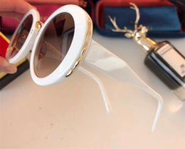 Wholesale Round Silver Charm - Luxury 0262 Sunglasses For Women Retro Round Frame Charming Elegant Special Designer Built-In Circular Lens Top Quality Come With Package