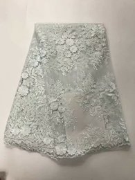 Wholesale Tulle Lace Fabric Wholesale - Wholesale African Lace Fabric white French Net Embroidery flowers Tulle Lace Fabric For Nigerian party Dress
