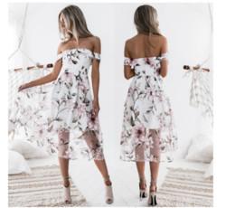 Wholesale womens graduation dresses - 2018 new women Sexy Fashion print summer Dress Womens wearing printed organza elegant long dress ladies