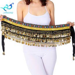 Bufandas de las mujeres indias online-Mujeres Belly Dance Hipscarf Velvet Bellydance Belt Ladies Indian Dancer Hip bufanda gitana envío gratis