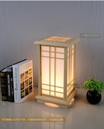 Wholesale Chinese Touch Lamps - Floor lamp japanese style tatami table lamp room lights brief wooden floor chinese style lamps lighting