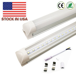 Wholesale Fluorescent Lamp Light - US in stock best product Integrated T8 LED Tube 4FT 22W SMD 2835 tubes Light Lamp 1.2M 85-265V Bulb led fluorescent lighting