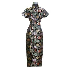 aa801b3ece9 Robe traditionnelle chinoise pour femme Qipao Cheong-sam Robe de soirée de  mariage Taille S M L XL XXL XXXL C0001