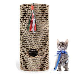 Rolos de treinamento on-line-Novo Gato Arranhar Post Training Roller Scruber Cilindro De Rolamento de Brinquedo Livre Catnip