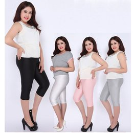 lady summer capris women large size XL pencil pant black pink gray stretch  short pants candy color active pants 712da2a1e