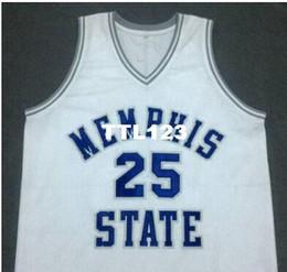 2019 camiseta de baloncesto 4xl azul, camiseta blanca del baloncesto envío libre RARO MS State College Jersey # 25 Hardaway del penique o personalizar cualquier número Hombres Jersey cosida rebajas camiseta de baloncesto 4xl