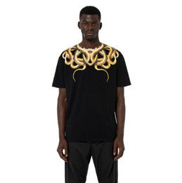 bdbe7b283 18ss 6 cores Marca Marcelo Burlon T Camisas Das Mulheres Dos Homens 1a: 1  3D Cor De Cobra Impressão MB Kanye T-shirt Estilo Hip Hop Roupas Camisetas  Hombre ...