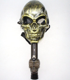 black skull bong Coupons - Skull Mask Bong Tabacco Shisha Acrylic Pipes Smoking Hookah Halloween Party Fancy Dress Party Skull Mask Silicone Mask