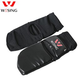 Wesing Adult PU Leather Instep Guard Feet Protector with Large Size for Wushu Sanda Muay Thai Training Boxing Competition 1502A1 Deals