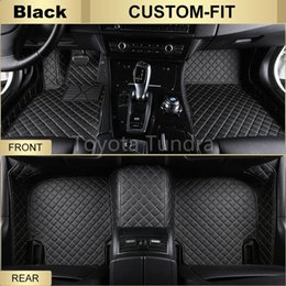 Wholesale Weather Floor Mats - All Weather Leather Floor Mats for Toyota Tundra,Waterproof Anti-slip 3D Front & Rear Carpets Custom Fits-Black Left-Hand-Driver-Model