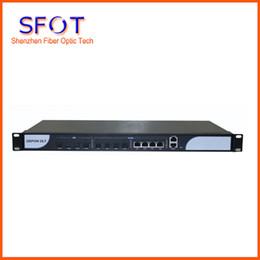 Optische module online-4 PON Port EPON OLT-Ausrüstung, 4 Uplink-Ports, Optical Line Terminal, mit SFP-Modul.