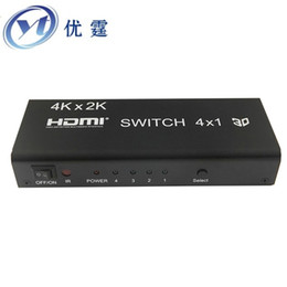 spdif speakers Promo Codes - 1.4v 4k HIFI HDMI switcher 4x1 witch 5.1 spdif Coaxial and 3.5 R L 4 port switch 1080P 3d AC3 5.1DTS Dolby-true 4KX2K30HZ Audio
